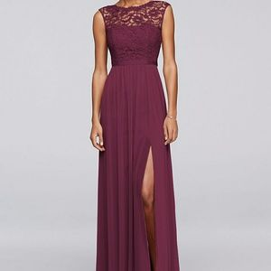 Bridesmaid dress Sz 12 (i was a sz 8) Wine color